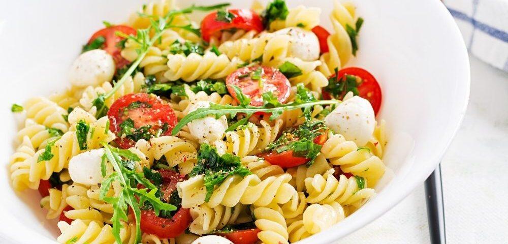 pasta olive pomodorini e mozzarella